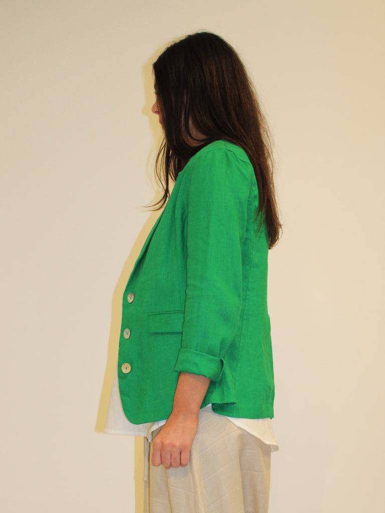 Weekend Linen Blazer EMERALD
