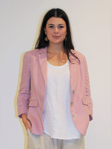 Weekend Linen Blazer ROSE