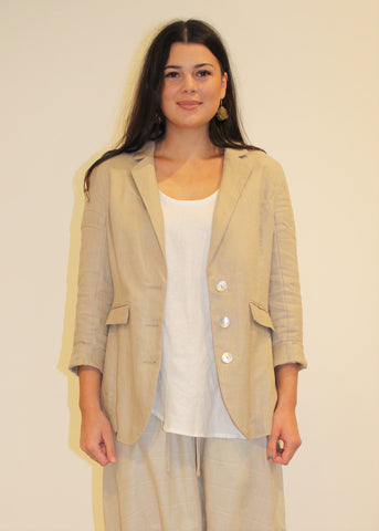 Heritage Linen Blazer PUTTY