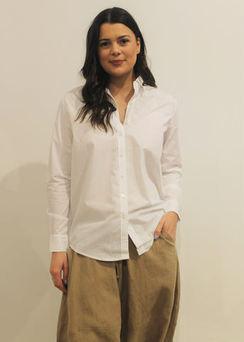 Cotton Poplin Shirt WHITE