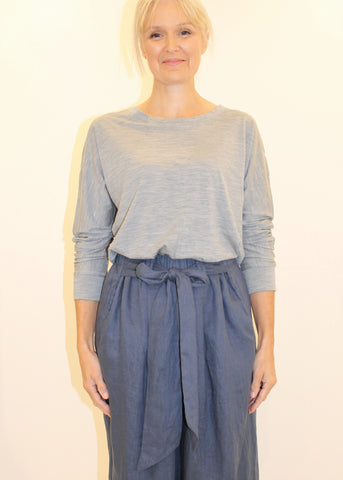 Luxe Merino Top GREY MARLE