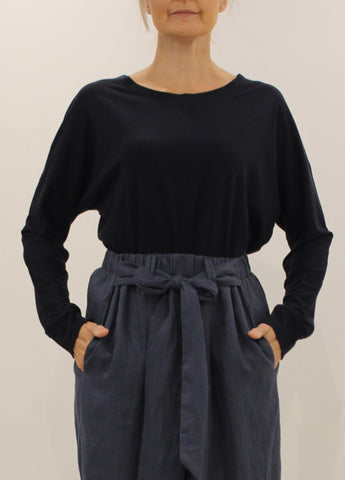 Luxe Merino Top NAVY