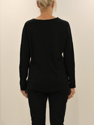 Luxe Merino Top BLACK