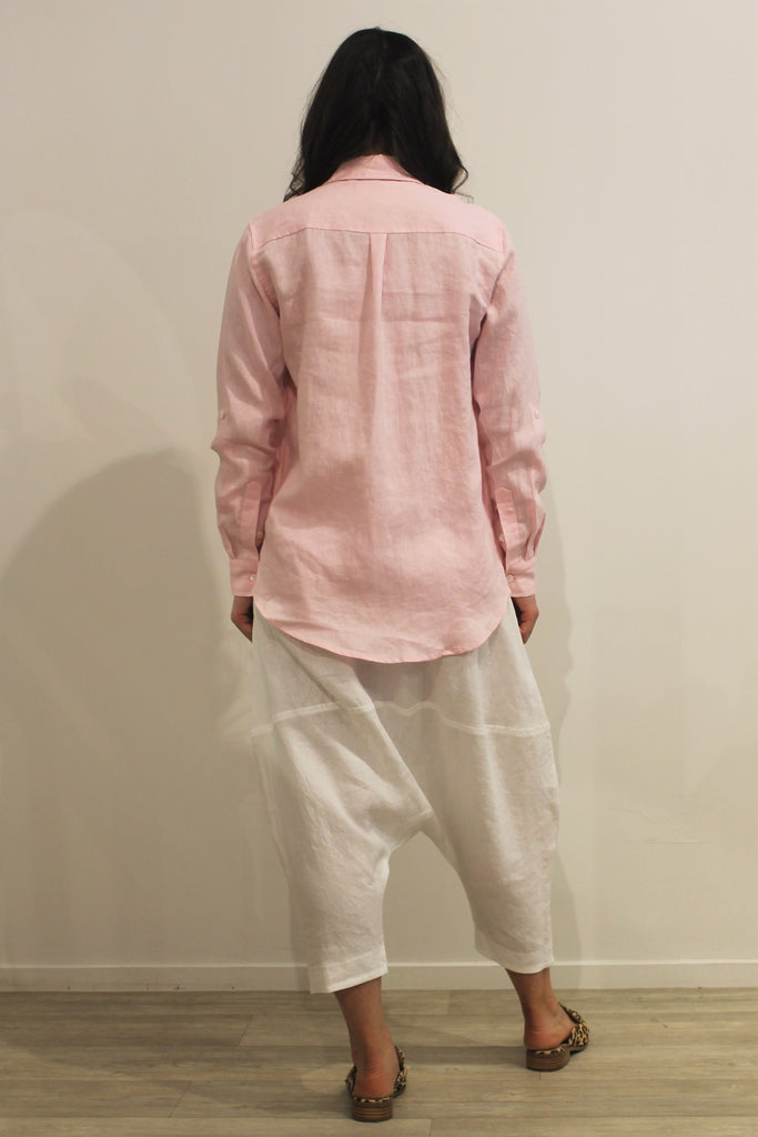 Collared Linen Shirt PINK