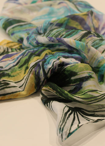Silk Scarf FRONDS