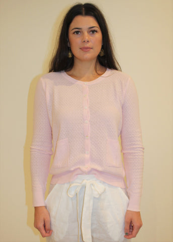 Cotton Pointelle Cardigan BLUSH
