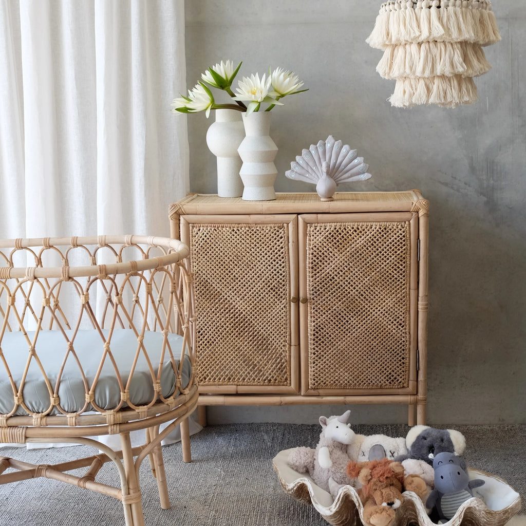Rattan Cabinet Sideboard