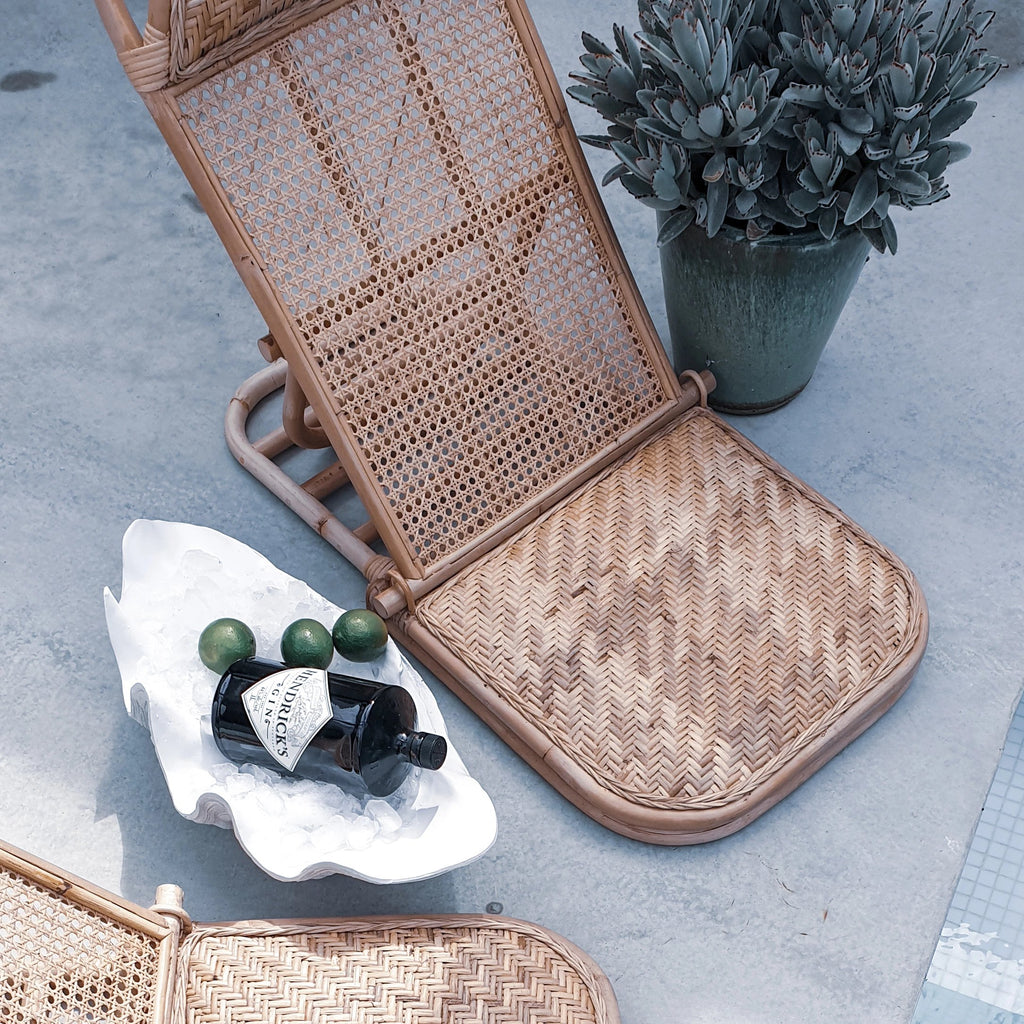 Rattan Beach Lounger Chair