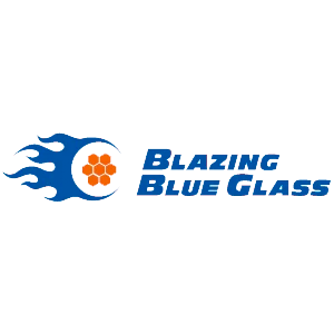 Blazing Blue Glass