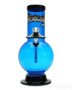"Headway 8"" Bubble Acrylic Bong - SMOKEA"
