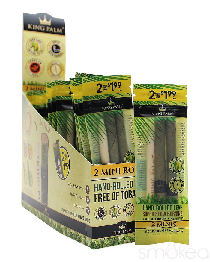 King Palm Mini Natural Pre-Rolled Cones (2-Pack)