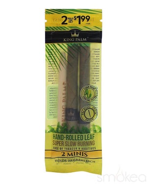 King Palm Mini Natural Pre-Rolled Cones (2-Pack) - SMOKEA