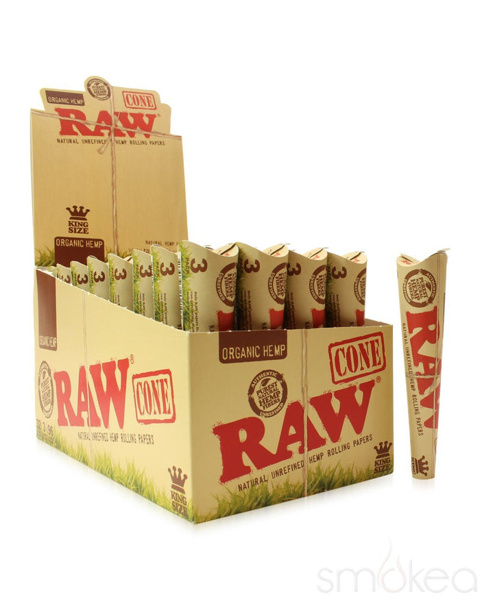 Raw Organic King Size Pre-Rolled Cones (3-Pack)