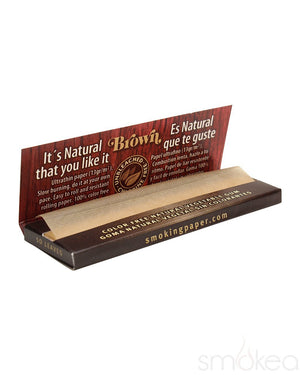 Smoking Brown Medium 1 1/4 Unbleached Rolling Papers - SMOKEA