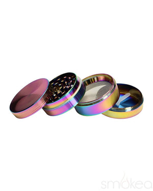 "SMOKEA 2.2"" 4pc Rainbow Metallic Grinder"
