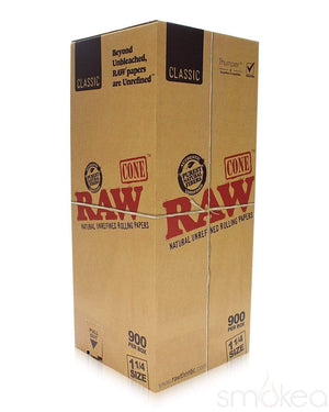 Raw Classic 1 1/4 Pre-Rolled Cones (900-Pack)
