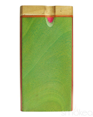 SMOKEA Multi Color Wood Twist Top Dugout - SMOKEA