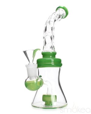 "SMOKEA 8"" Cut Glass Mini Bong w/ Bent Neck - SMOKEA"