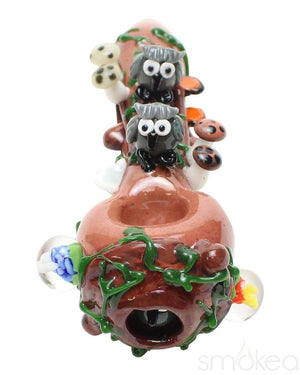 Empire Glassworks Small Hootie's Forest Spoon Pipe - SMOKEA