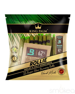 King Palm Rollies Natural Pre-Rolled Cones (25-Pack)