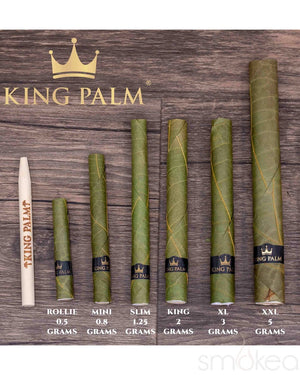 King Palm Slim Natural Pre-Rolled Cones w/ Boveda Pack (5-Pack) - SMOKEA