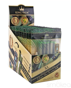 King Palm XL Natural Pre-Rolled Cones w/ Boveda Pack (5-Pack)