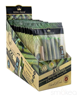King Palm XXL Natural Pre-Rolled Cones w/ Boveda Pack (5-Pack)