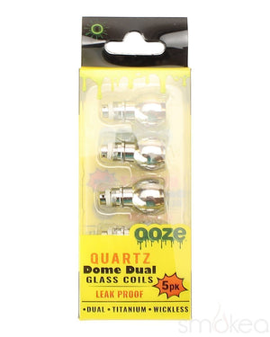 Ooze Vaporizer Parts & Accessories Ooze Domed Dual Quartz Replacement Coils (5-Pack)