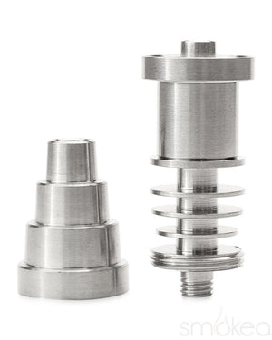 SMOKEA Titanium 16mm E-Nail Compatible 6-in-1 Universal Domeless Nail - SMOKEA