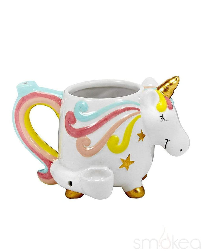 SMOKEA Ceramic Unicorn Coffee Mug Pipe