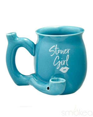 "SMOKEA ""Stoner Girl"" Ceramic Mug Pipe"