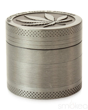 "SMOKEA Store Products SMOKEA Silver Leaf 1.5"" 4pc Herb Grinder"