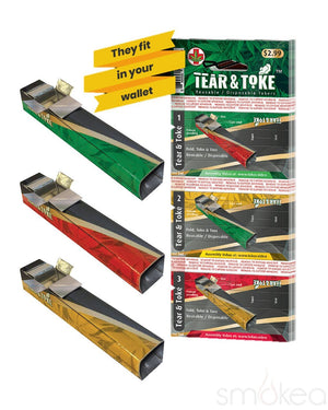 Tear & Toke Foldable Disposable Pipes - SMOKEA
