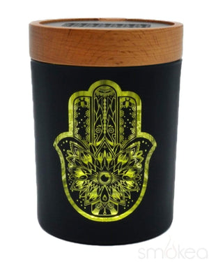 "V Syndicate ""Hamsa Yellow"" SmartStash Jar Medium"