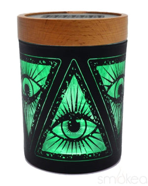 "V Syndicate ""Illuminati Green"" SmartStash Jar Medium"