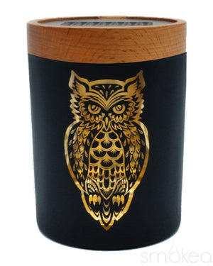 "V Syndicate ""Owllusion Orange"" SmartStash Jar Medium"