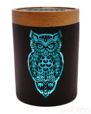 "V Syndicate ""Owllusion Turquoise"" SmartStash Jar Medium"