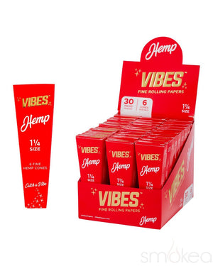 Vibes 1 1/4 Hemp Pre Rolled Cones (6-Pack) - SMOKEA