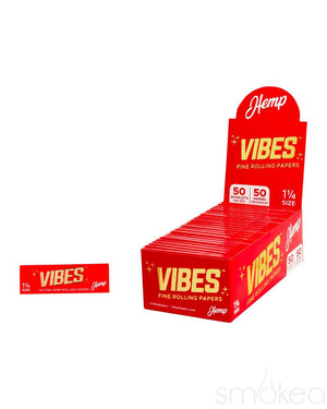Vibes 1 1/4 Hemp Rolling Papers - SMOKEA