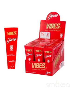 Vibes King Size Hemp Pre Rolled Cones (3-Pack) - SMOKEA