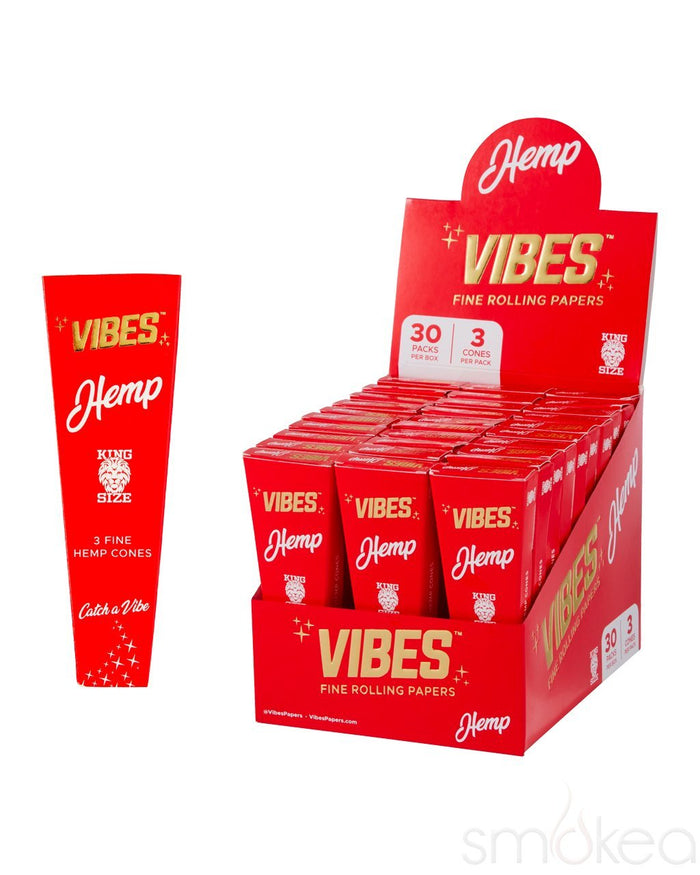 Vibes King Size Hemp Pre Rolled Cones (3-Pack)