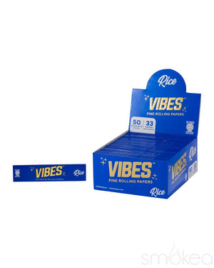 Vibes King Size Slim Rice Rolling Papers - SMOKEA