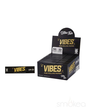 Vibes King Size Slim Ultra Thin Rolling Papers - SMOKEA