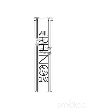 White Rhino Round Glass Rolling Tip - SMOKEA
