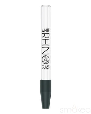 White Rhino Pyrex Glass Straw
