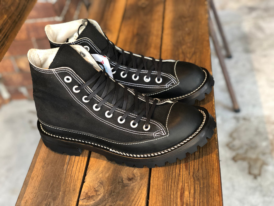 CONVERSE ALL STAR BLACK CUSTOM ダブルステッチVibram100
