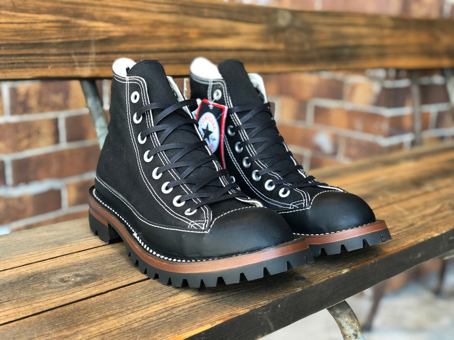CONVERSE ALL STAR BLACK CUSTOM シングルステッチVibram100