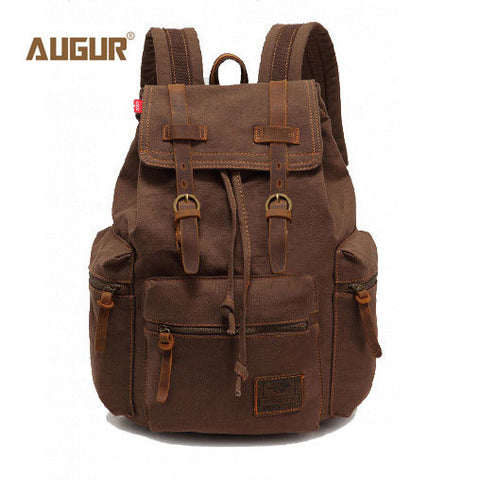 AUGUR New fashion men's backpack vintage canvas backpack school bag men's travel bags large capacity travel backpack bag