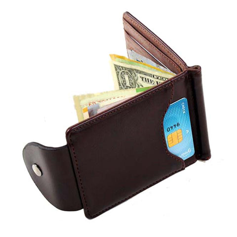 ASDS Ultra-thin Slim Men Leather Money Clip Wallet
