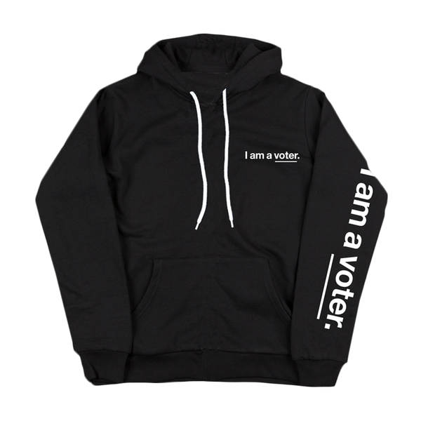 I am a voter. unisex black sweatshirt
